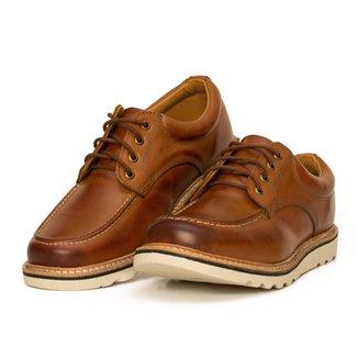 Sapato Moc Toe Couro Confort Boston Avelã Cmr Shoes