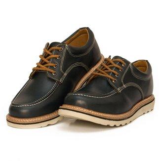 Sapato Moc Toe Couro Confort Boston Cmr Shoes