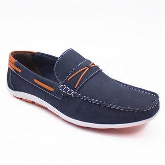 Sapato Mocassim Cla-Clê Masculino Couro Confortável