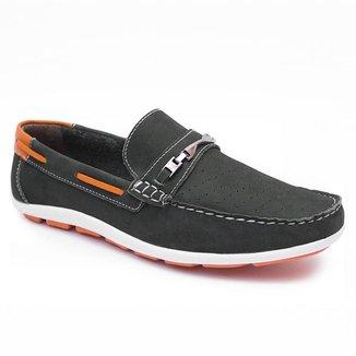 Sapato Mocassim Cla-Clê Masculino Couro Dia a Dia Leve