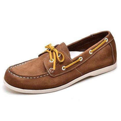 Sapato Mocassim Docksider Unissex Caramelo Top Franca Shoes