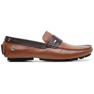 Sapato Mocassim em Couro Claro Masculino Vitara
