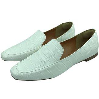 Sapato Mocassim Feminino Donatella Shoes Camurça Macau Liso Confort