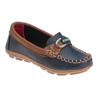 Sapato Mocassim Infantil Costurado Fivela Casual Minipasso Masculino
