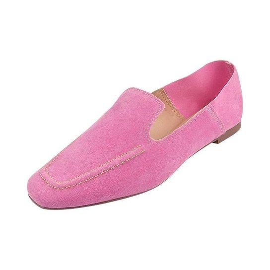 Sapato Mocassim Loafer Bico Quadrado Sapatteria - Rosa