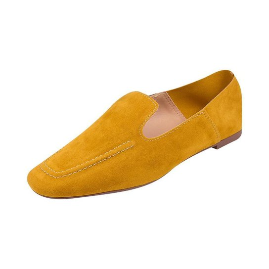 Sapato Mocassim Loafer Bico Quadrado Sapatteria - Amarelo