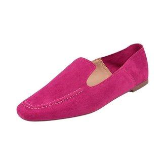 Sapato Mocassim Loafer Bico Quadrado Sapatteria