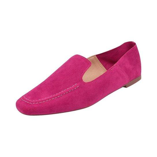 Sapato Mocassim Loafer Bico Quadrado Sapatteria - Pink