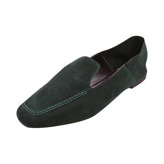 Sapato Mocassim Loafer Bico Quadrado Sapatteria - Verde