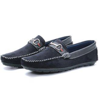Sapato Mocassim Masculino Camurca Preto
