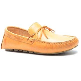 Sapato Mocassim Masculino Couro Liso C/ Amarração Conforto