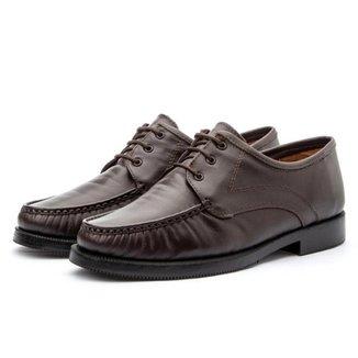 Sapato Mocassim Masculino Tradicional Em Couro
