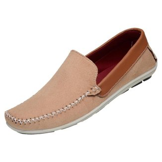 Sapato Mocassim Sapatilha Casual Masculino Camurça Liso