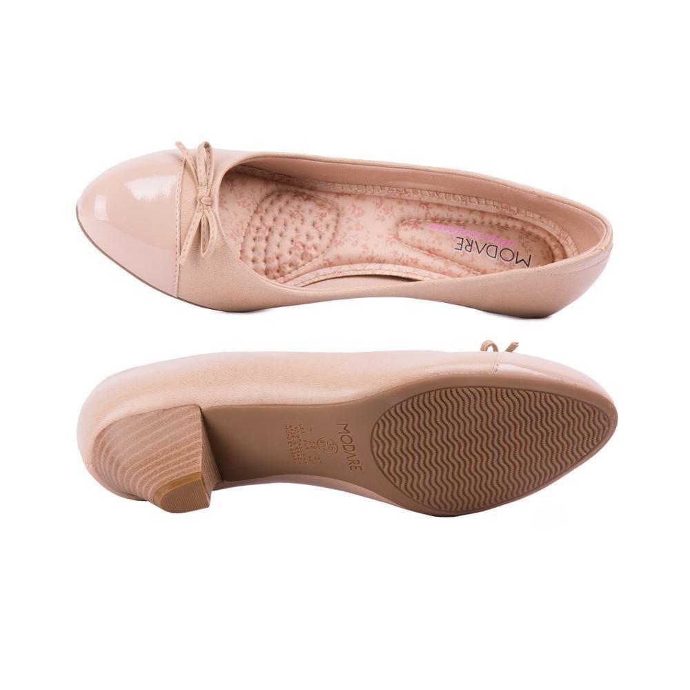 Com Bege Sapato Napa Modare Bege Modare Laço Sapato 88qgxB4I