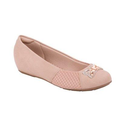 Sapato Modare Nobuck Soft Com Detalhe Em Pedras E Strass