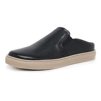 Sapato Mule Masculino Couro Estilo Casual Confortável Macio