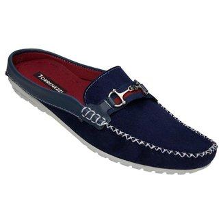 Sapato Mule Masculino Shoes Lancamento Azul Navy
