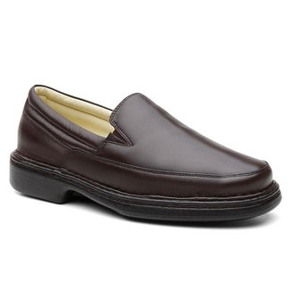 Sapato Ortopédico Masculino Couro Macio Conforto Dia a Dia