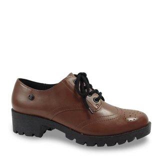 Sapato Oxford Bottero 327804 Couro Tratorado Feminino