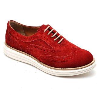 Sapato Oxford Camurça Q&A Feminino