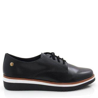 Sapato Oxford Casual Giulia Domna 205.01 Couro Feminino