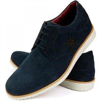 Sapato Oxford Casual Masculino Confort Camurça Couro