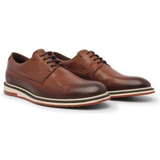 Sapato Oxford Casual Masculino Couro Confortável Macio Leve