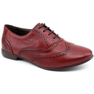 Sapato Oxford Chaville 240125 Couro Vermelho