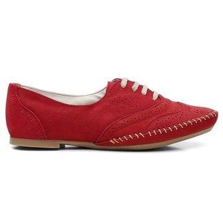 Sapato Oxford Comfort Couro - Feminino