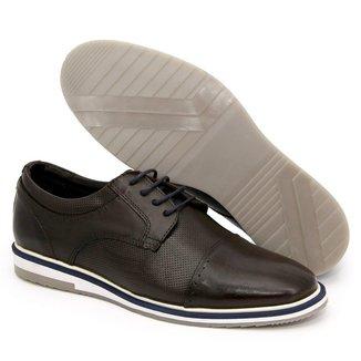 Sapato Oxford Couro Masculino Solado Antiderrapante Casual