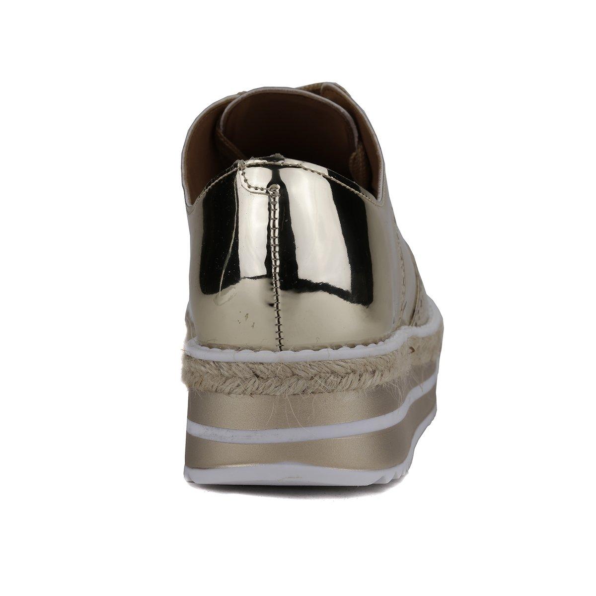 Dourado Dourado Branco Sapato Oxford Branco Dourado Vizzano Sapato Feminino Feminino Dourado Oxford Vizzano EqaR6Sww