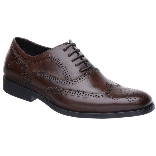 Sapato Oxford Malbork Solado Comfort Borracha - Marrom