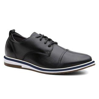 Sapato Oxford Masculino Couro Cadarço Confortável Casual