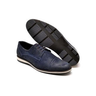 Sapato Oxford Masculino Couro Camurça Leve Macio Confortável