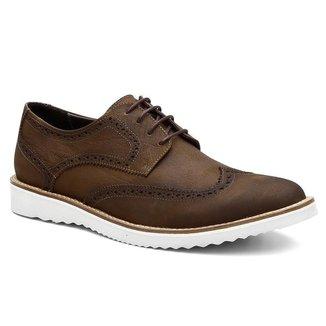 Sapato Oxford Masculino Couro Confortável Elegante Moderno