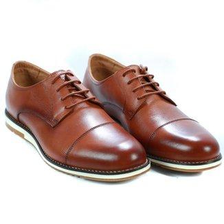 Sapato Oxford Masculino Couro Confortável Macio Casual