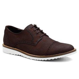 Sapato Oxford Masculino Couro Confortável Moderno Elegante
