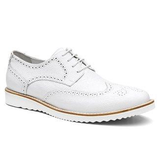 Sapato Oxford Masculino Couro Elegante Confortável Moderno
