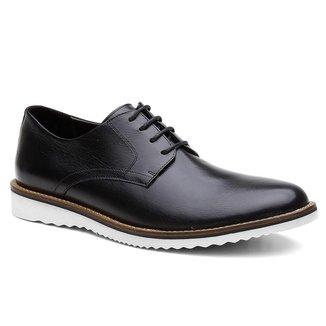 Sapato Oxford Masculino Couro Elegante Leve Moderno Conforto
