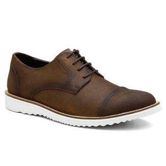 Sapato Oxford Masculino Couro Leve Conforto Dia a Dia Macio