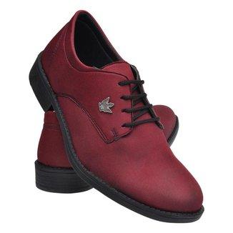 Sapato Oxford Masculino Lona Cadarço