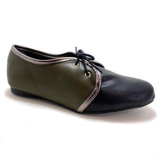Sapato Oxford Napa Army Vegano  Strax Feminno