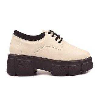 Sapato Oxford Off White Tratorado - Hanna Carmela