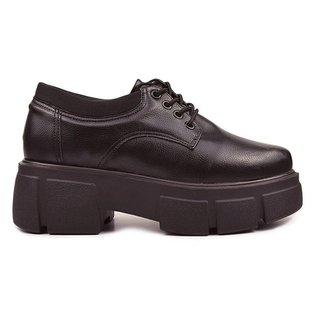 Sapato Oxford Preto Tratorado - Hanna Carmela