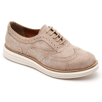 Sapato Oxford Q&A Camurça Feminino