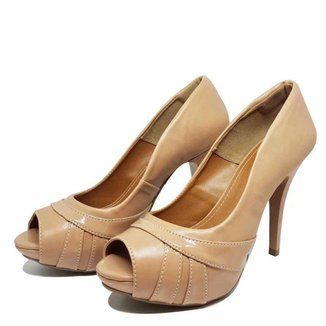 Sapato Peep Toe Meia Pata Salto Alto 277 HINFINITY Feminino