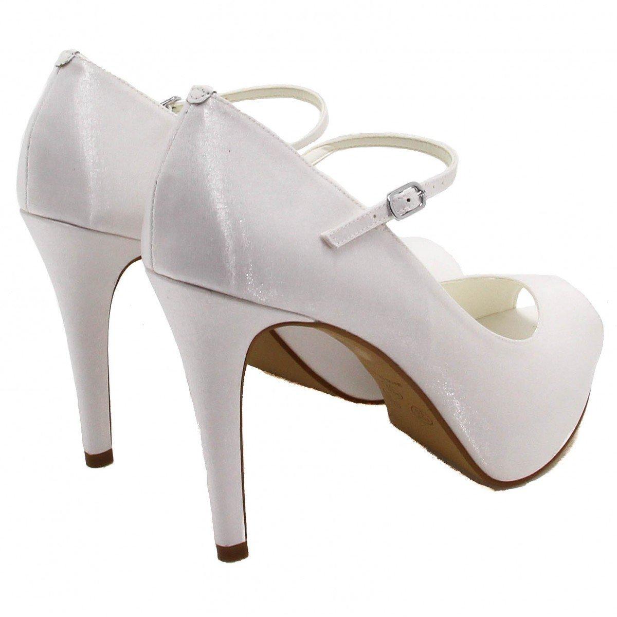 Zariff Shoes Noivas Peep Toe Shoes Zariff Peep Branco Sapato Sapato Toe 6qEdxBa