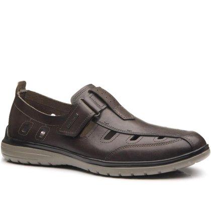 Sapato Pegada Masculino em Couro Cravo 125951-03