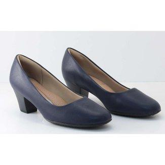 Sapato Piccadilly Scarpin Salto Baixo Feminino