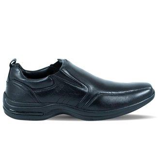 Sapato Pipper Masculino Antitensor de Couro Preto
